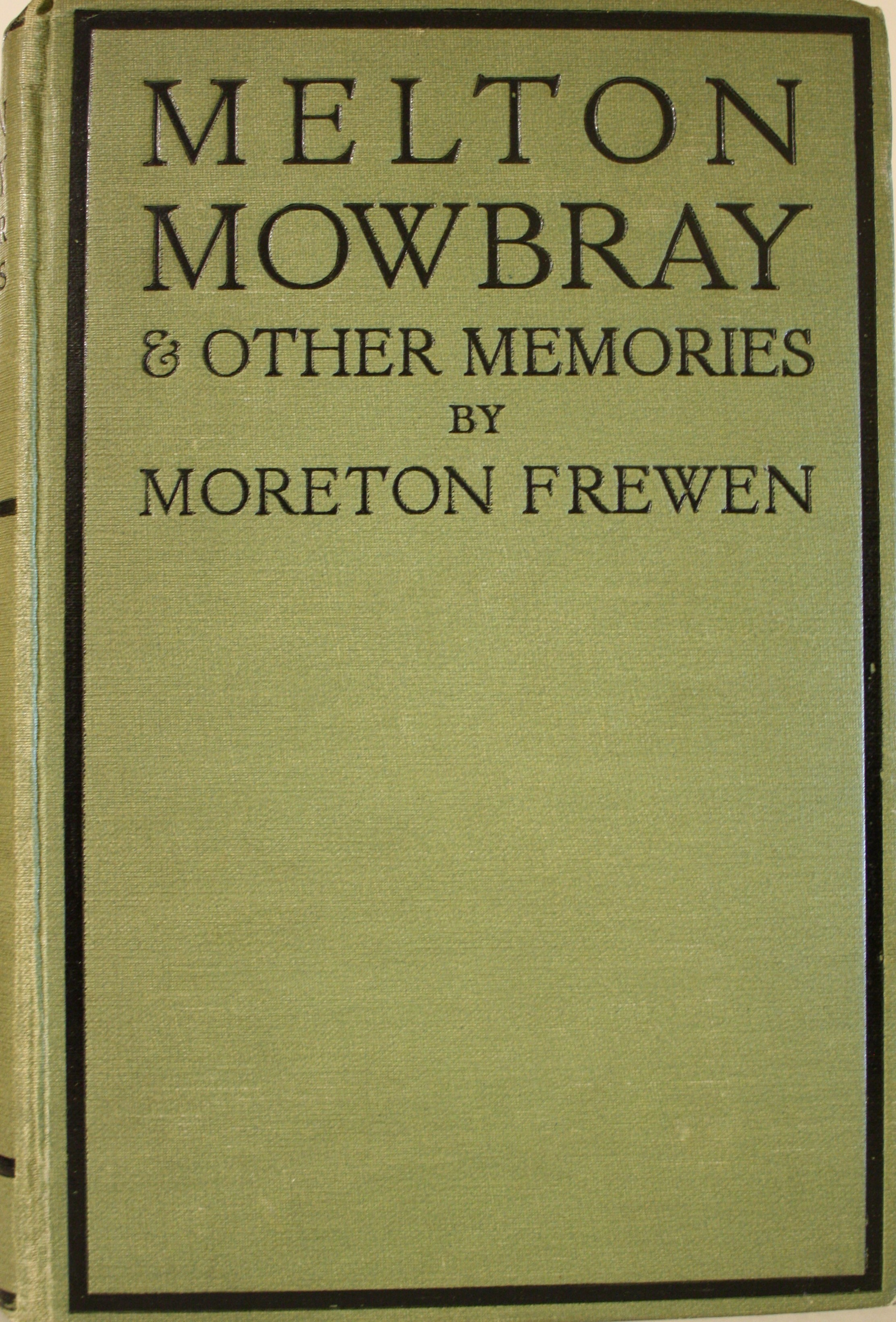 Image for Melton Mowbray And Other Memories