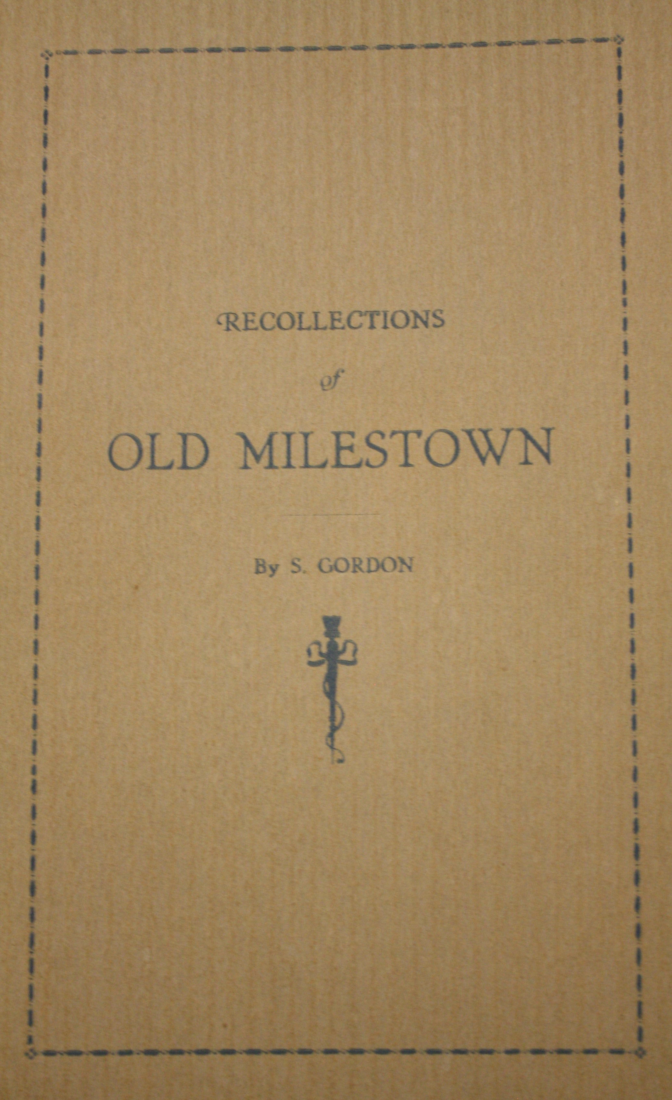 Image for Recollections of Old Milestown