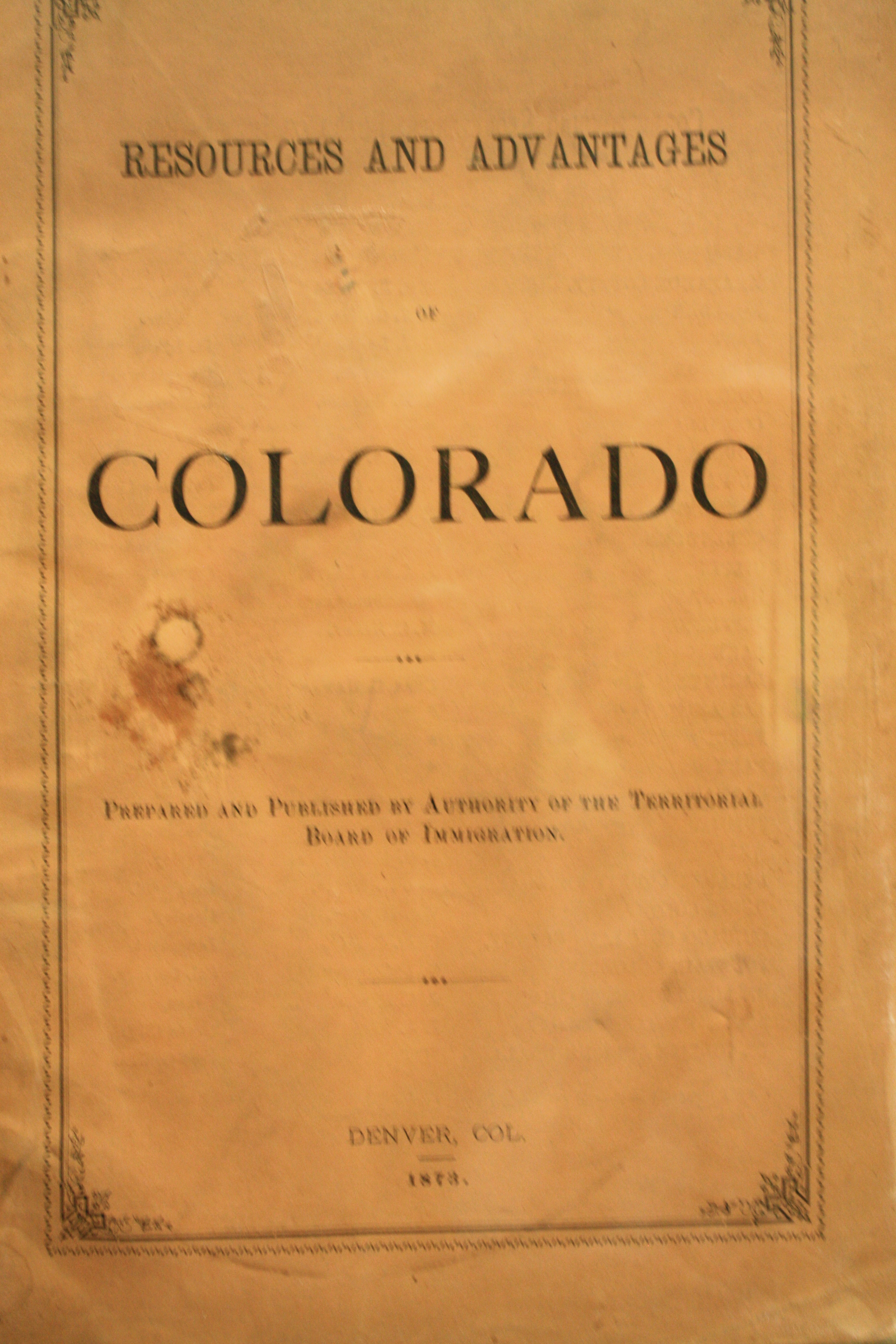 Image for Resources and Advantages Of Colorado