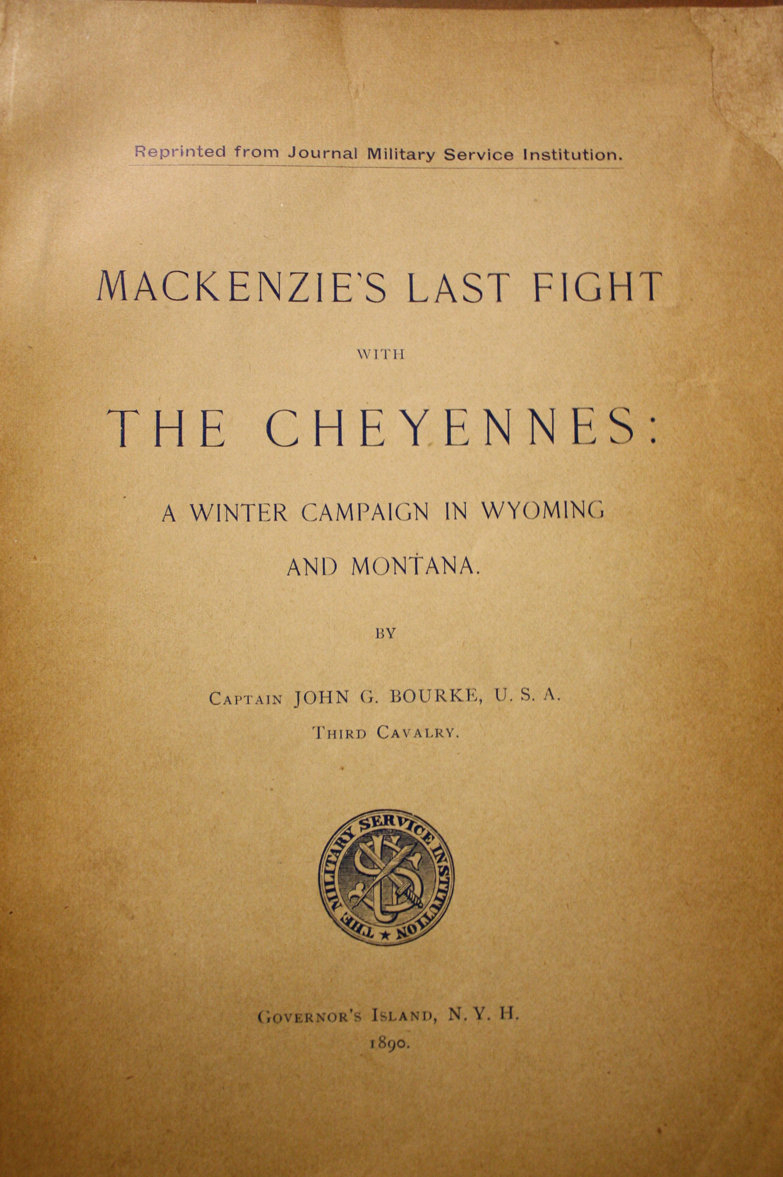 Image for MacKenzie's Last Fight With the Cheyennes: A Winter Campaign in Wyoming and Montana